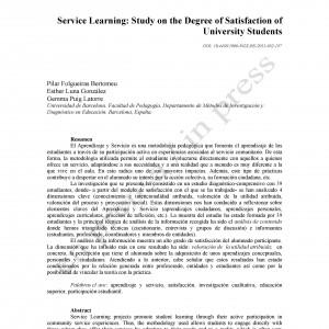 Aprendizaje y servicio: estudio del grado de satisfacción de estudiantes universitarios