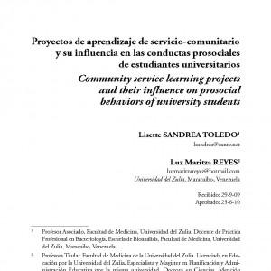Proyectos de aprendizaje de servicio-comunitario y su influencia en las conductas prosociales de estudiantes universitarios