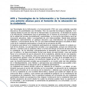 APS y Tecnologías de la Información y la Comunicación: una potente alianza para el fomento de la educación de la ciudadanía