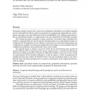 El aprendizaje basado en competencias y el desarrollo de la dimensión social en las Universidades