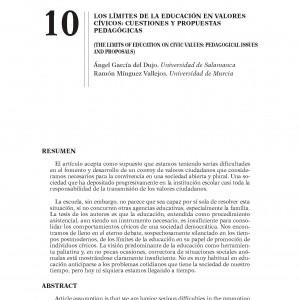Límites de la educación en valores cívicos: cuestiones y propuestas pedagógicas