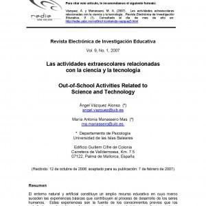 Las actividades extraescolares relacionadas con la ciencia y la tecnología