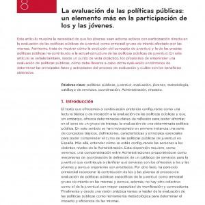 La evolución de las políticas públicas: un elemento más en la participación de los y las jóvenes.