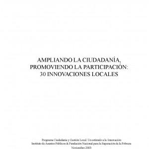 Ampliando la ciudadanía, promoviendo la participación: 30 innovaciones locales