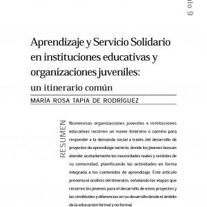 Aprendizaje y Servicio Solidario en instituciones educativas y organizaciones juveniles: un itinerario común