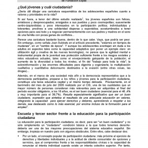 Juventud, ciudadanía y Aprendizaje-Servicio. Aportación al debate sobre Educación para la participación ciudadana del Consejo Asesor de Fundación Esplai