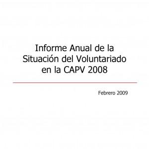 Informe anual de la situación del voluntariado en la CAPV 2008