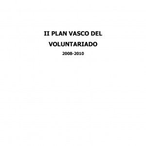 II Plan Vasco del Voluntariado (2008-2010)